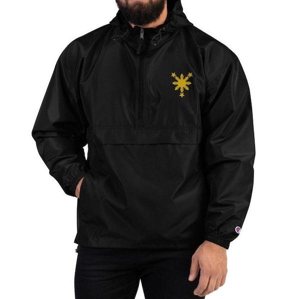 Filipino Clothing Filipino Unisex Jacket Pinoy Filipino Jacket Pilipino Filipino Embroidered Champion Packable Jacket Pinay