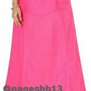 Coton Sari Femme Jupon Indien Sous-Jupe Jupe Sari Inskirt