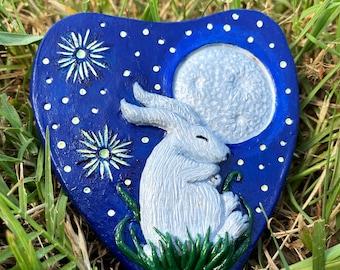 Moon Bunny Ouija Compact Mirror Luna Rabbit Mirror