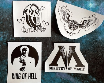 Fandom Supernatural Magic Scream Vinyl Decal Sticker Laptop Sticker Horror Car Sticker Vehicle Accessories