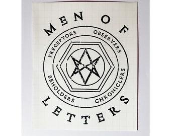 Men of Letters Decal, Fandom Sticker, Supernatural Car Sticker, Supernatural Symbol Decal, Supernatural Sticker, Sam and Dean Winchester