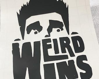 Paranorman Decal, Weird Wins vinyl decal, Halloween Gift, Horror Bumper Sticker, Vehicle Accessories, Zombie decal, Ghost Sticker, Fandom