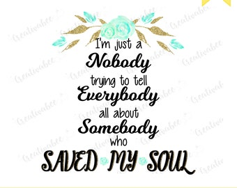 Nobody, Casting Crowns, Religious, Christian, Sublimation, PNG, Clipart