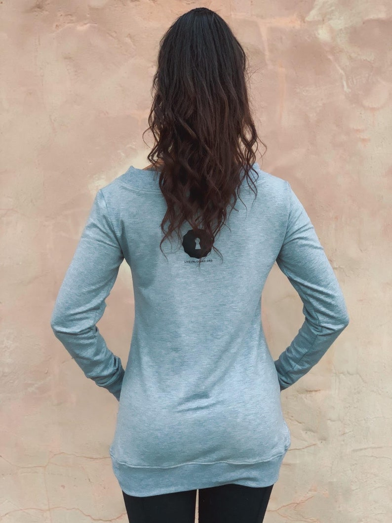 Semi-Fitted Extra Long Off the Shoulder Sweatshirt Large Pocket