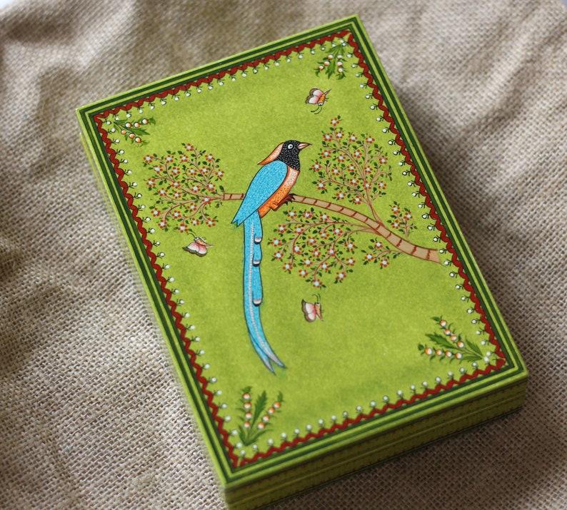 Wooden earring box Handpainted |Premium Velvet Box Trinket storage Bracelet holder| Ring box Unique gift idea for all occasions
