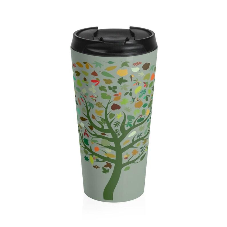 Stainless Steel Travel Mug. Tree of Life image 0