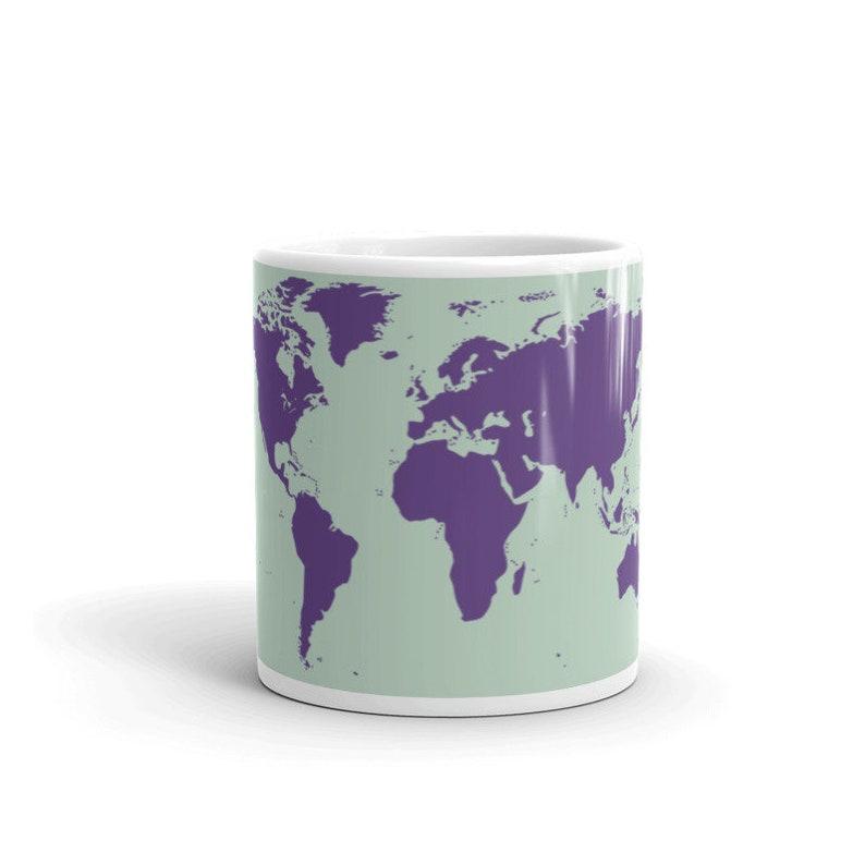 World Map Mug  Travel Collection image 0