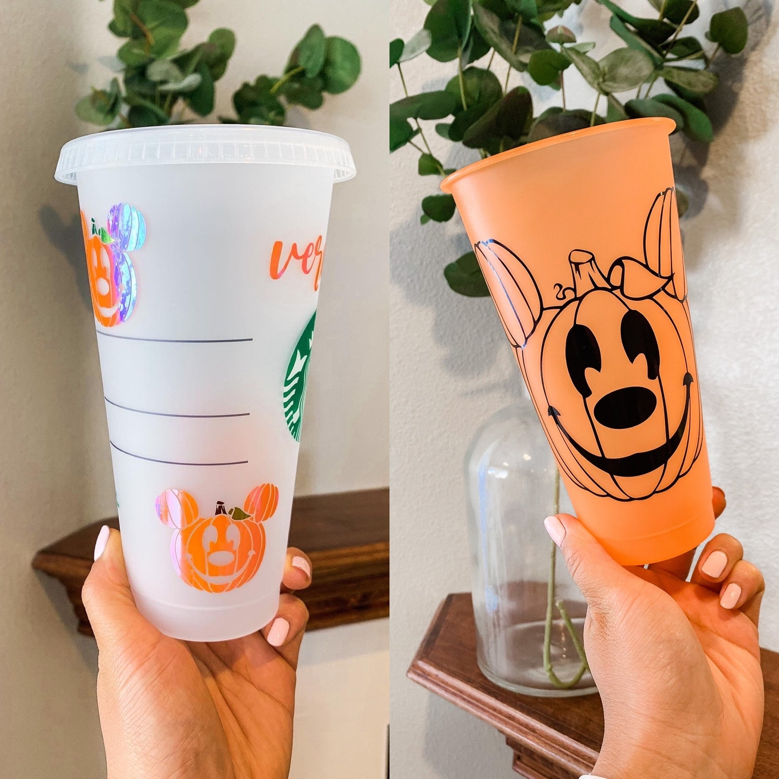 Mickey and Minnie Jack O Lantern Starbucks Tumblers Page Two