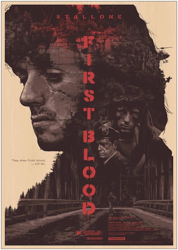 Rambo Last Blood Classic Movie Premium METAL Poster Art Print Gift