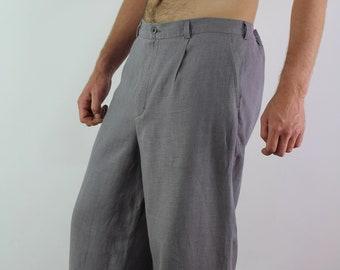 Made to order/ Linen men's pants/  Pants for men/ Linen pants with pockets/ Casual pants/ Men's t pants/ Linen long men's trousers