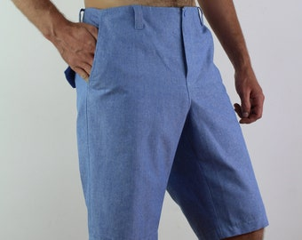 Made to order/ Linen shorts for men with side pockets/ Men's shorts/ Pants for men/ Casual shorts/ Linen men's trousers