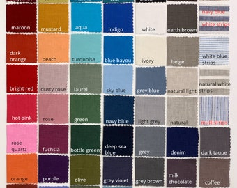 FREE Linen Fabric Swatches / Fabric Sample: up to 15 COLORS