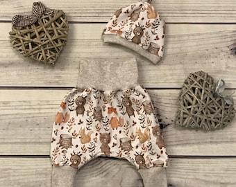 "Babyset ""Bear Strong"", Pants, Hat, Cloth, Size 44-80"