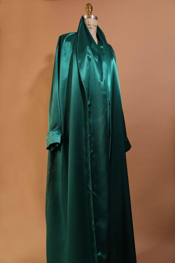 1970s Emerald Silk Kaftan
