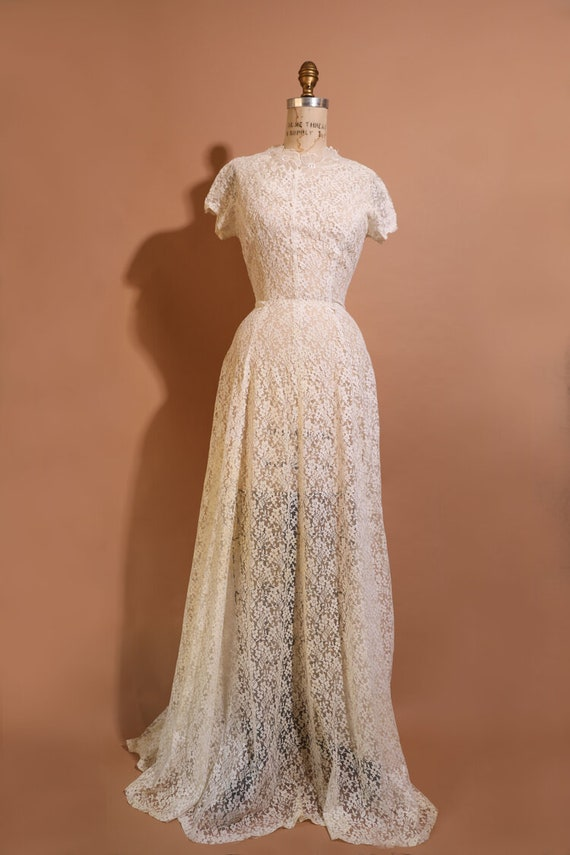1930s Lace Wedding Gown