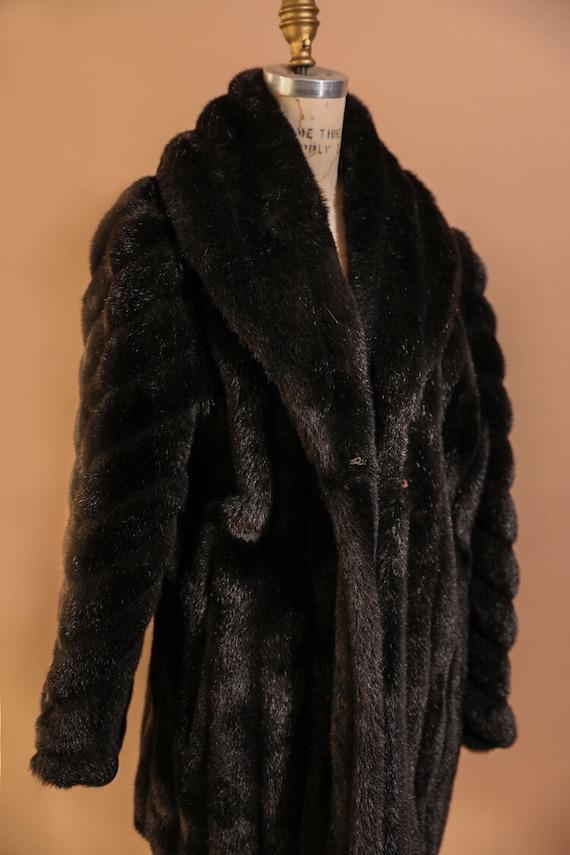 1930s Black Fur Coat