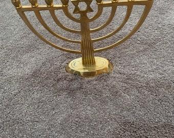Dollhouse Ornate Gold Metal Hanukkah  Menorah 1:12 Scale Miniature