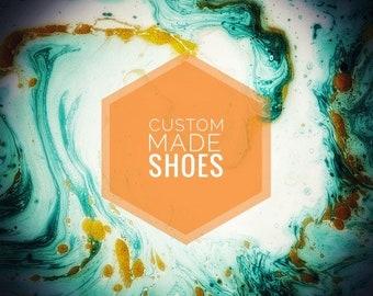 Custom made handpainted shoes