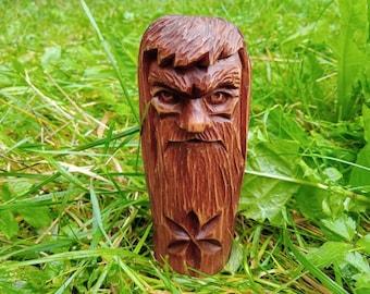 Perun. A figurine made of wood. Slavic Gods. Perun - Slavic God of Thunder and Justice