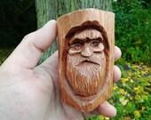 Figurine made of wood. Forest spirit. Lesovichok. Handmade. Wood carving.