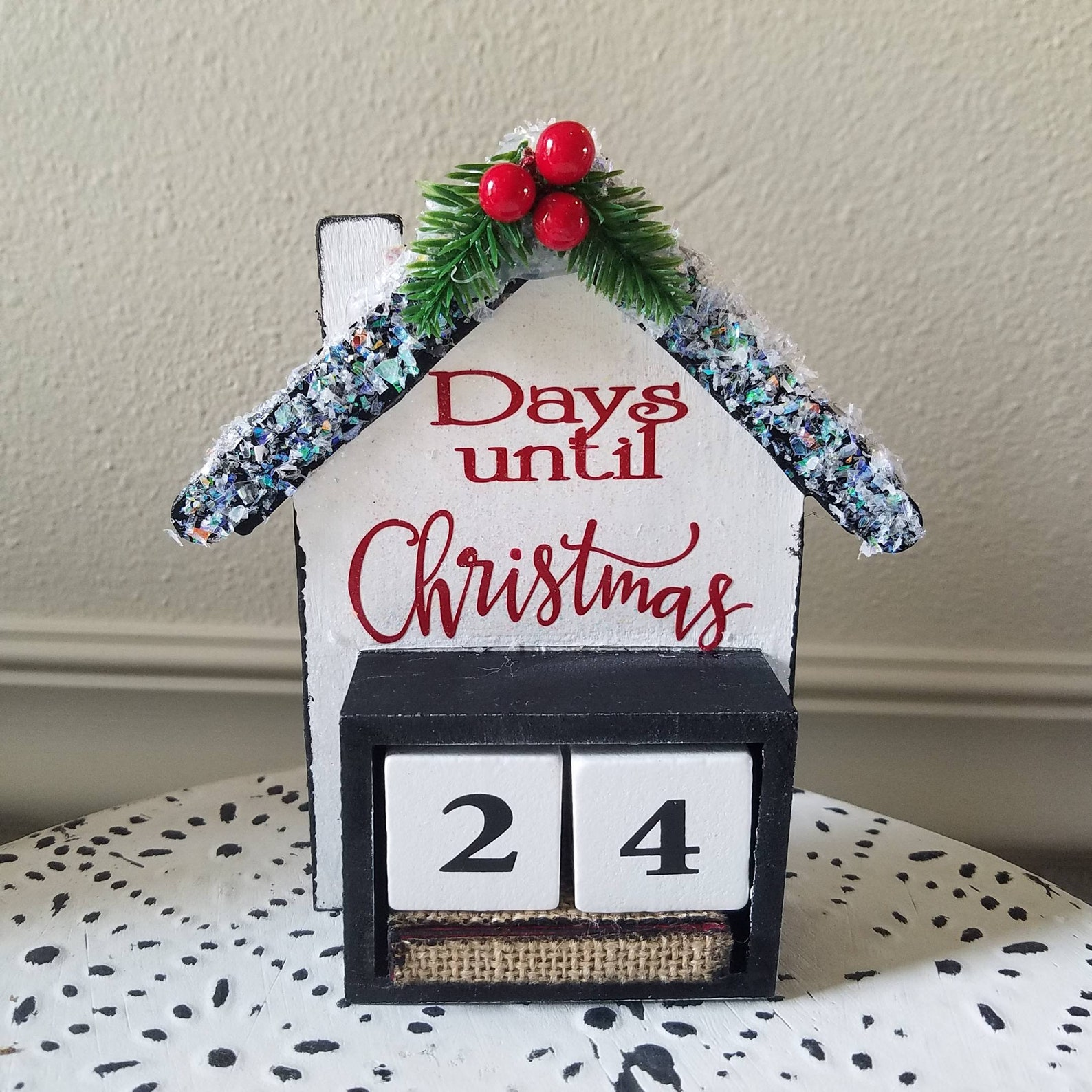 Christmas House Countdown Blocks