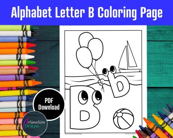 Alphabet Coloring Page Letter B ABC Letters Phonics