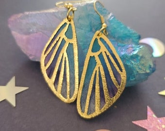 Magical Fairy Wing Earrings, Fairy Wings, Fairy, Wings, Earrings, Magic, Witchy, Earthy, Mori Kei, Mori, Cosplay