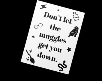 Harry Potter Greeting Card, Blank Card, Literary Pun, Punny Card, Geeky Card, Stationery, Note, Notecard, Writer Pun, Always