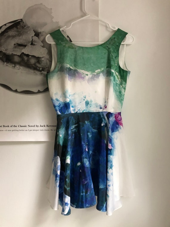 Watercolor Silk Dress
