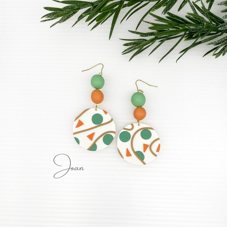Mothers day gift for daughter Terrazzo Earrings Dangle Boho Earring Best sellers birthday gift for her Trendy Jewelry Bohemian Jewelry