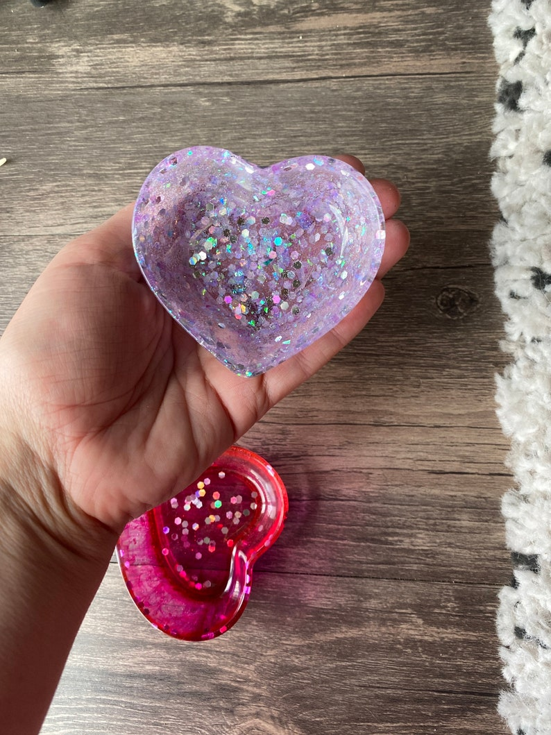 Custom heart ring tray