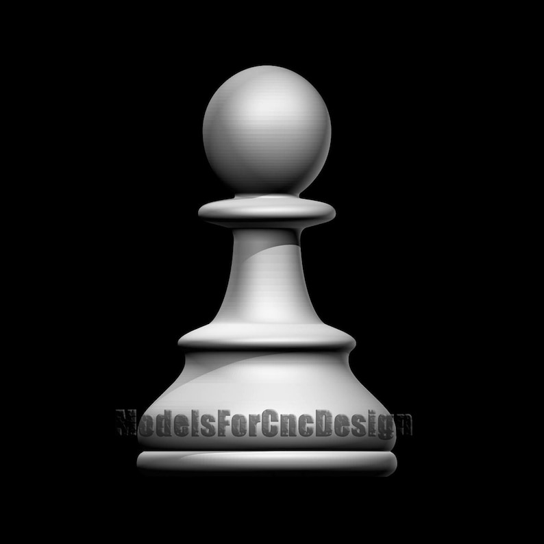 3D STL Model for Cnc Route Chess Game 2106. Classic Chess 3D CNC File for Wood Route Chess Stl File 3D Printing