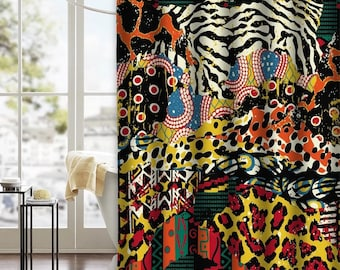 Homage To Africa Shower Curtain African Decor Africa Curtain Afrocentric Art, Afrika Curtain Afrocentric Curtain
