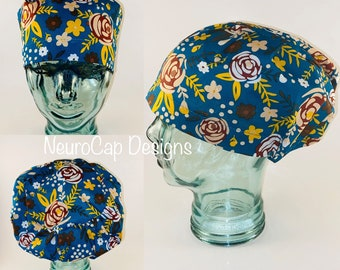 Pumpkins Women/'s Bouffant Hat Surgery Hat Chemo Hat USA Surgical Hat Thanksgiving Birds Fall Surgical Cap Sunflowers Scrub Cap