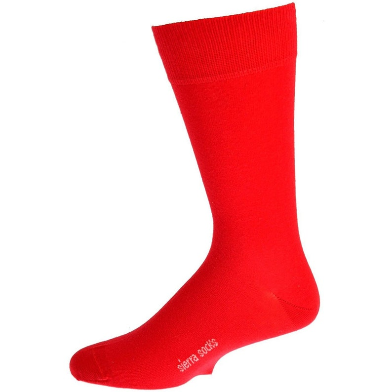 Premium Quality Multicolored Casual Crew Socks for Men Sierra Socks Men/'s Crew Cotton Solid Vibrant Colorful Seamless Toe Socks 3 Pair Pack