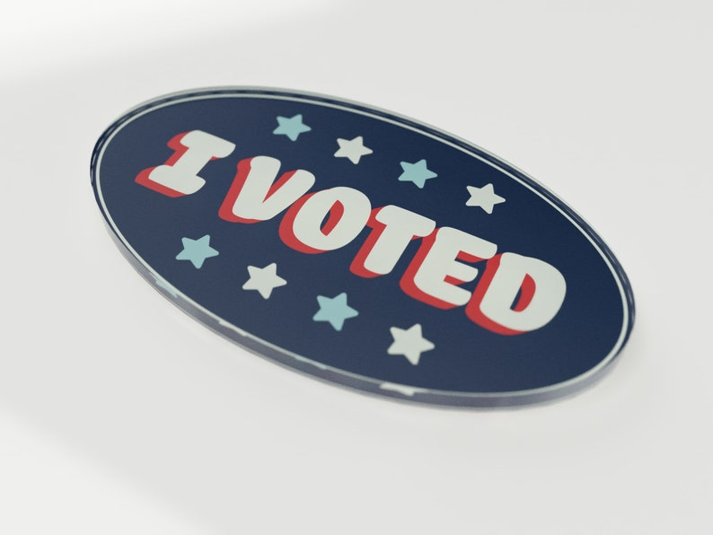 I Voted Acrylic Pin 2in x 1.25in **LIMITED EDITION**