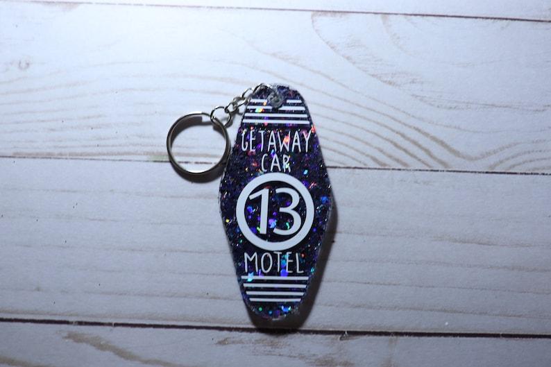 Getaway Car Motel keychain