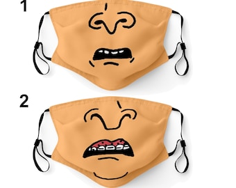 Face Mask Made in USA Adult & Youth Filter Pocket Nose Wire Washable Breathable Elastic Ear Loop Birthday Anniversary Gift Halloween