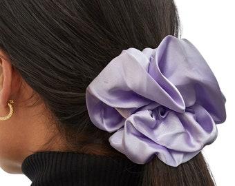 Lavender Satin Silk Extra Large Scrunchie, XXL, Big, Scrunchy, Hair Ties, Bandana, Hair Accessories