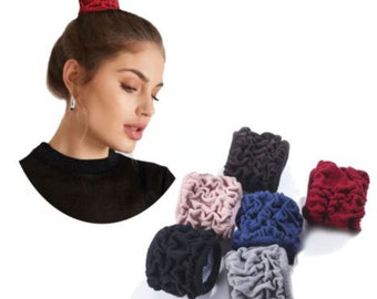 Hair Bun Ties, Seamless Cotton Stretch Pontail Holders, Hairband, Headband for Thick, Heavy, Long and Curly Hair