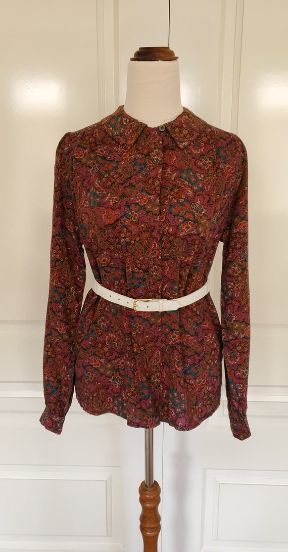 Vintage Blouse Madmen Office Secretary Small