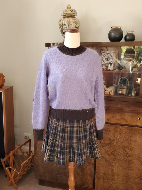 Vintage Sisley Sweater Jumper Italy Wool Mohair Bl