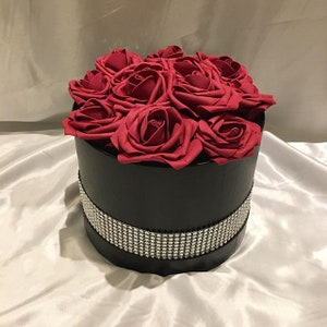 Fake Rose Box In Large Artificial Flower Box Arrangement Etsy