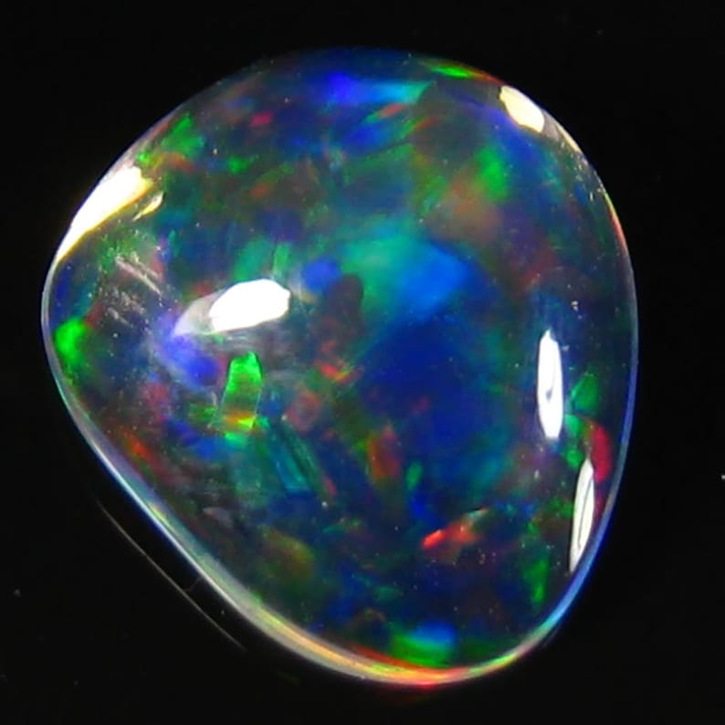 Sparkling 1.29 Ct Natural Mexican Jelly Opal  Tumbles Shape Top Lusters