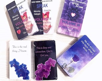 BUNDLE: Volume 2 and Volume 3 DF and DM Speak From the Heart Mirroring Dialogue Decks