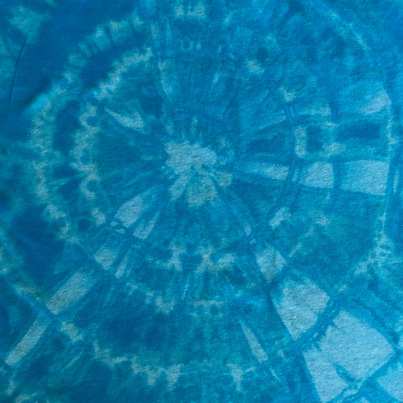 Tank Top Bright Blue reverse tie dye T shirt Womens Medium
