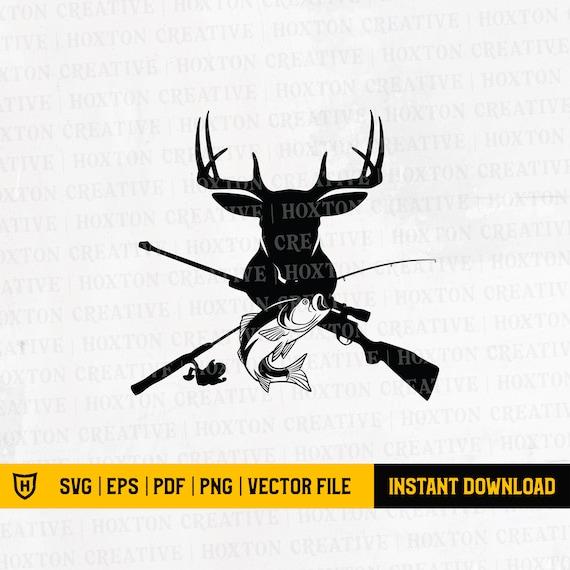 Download Deer And Fish Svg Deer Hunting Svg Cutting File