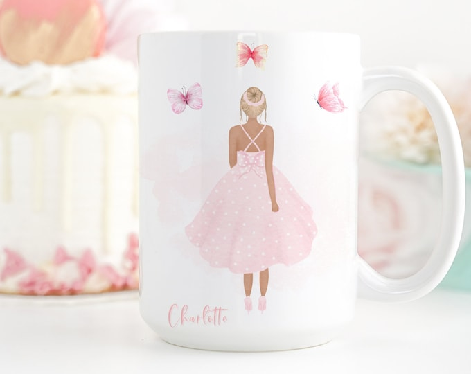 Customizable Mug, Fashion Illustration Coffee Mug, Watercolor Design