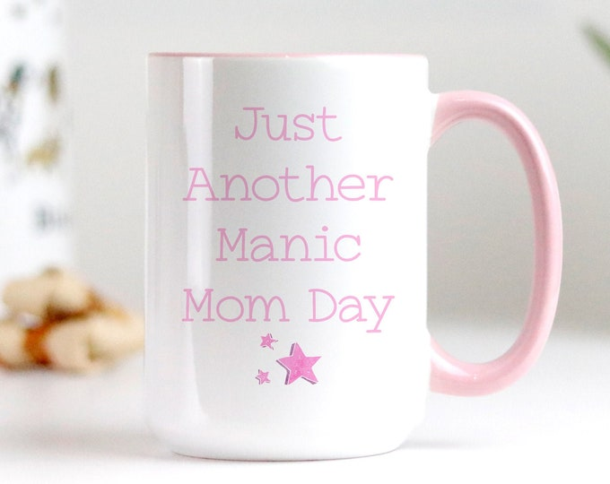 Just another manic mom day Mom Fuel Mug, This Mom likes her coffee, Caffeine Girl Lover, Coffee Mug Designs, Free printable included!
