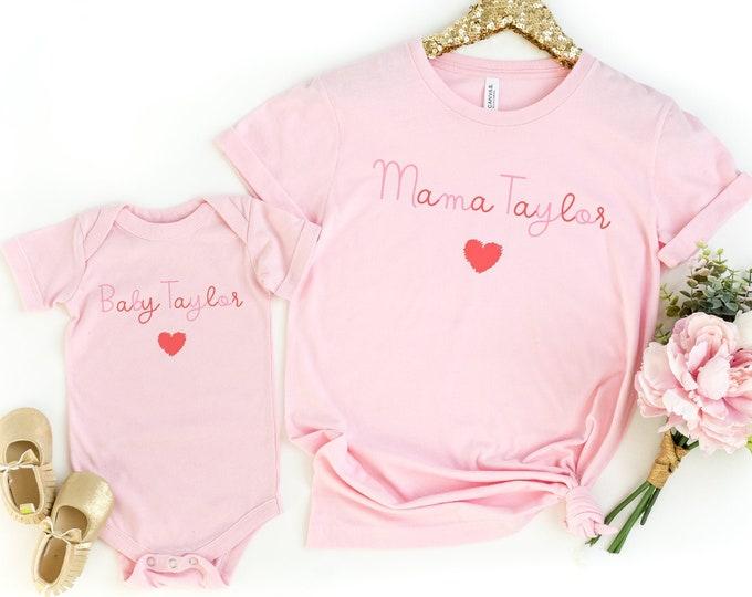 Custom Matching Mama and Baby Onesie